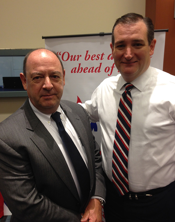 GRNC president Paul Valone with conservative presidential candidate Senator Ted Cruz